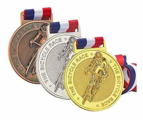 Jun medallas ma bicicleta, ciclismo, medallas bronce plata