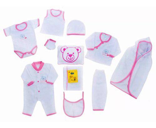 Primera muda bebé niña conjunto recien nacido rosado