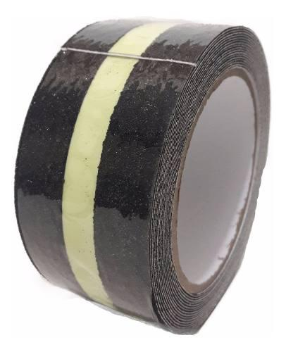 Cinta de seguridad antideslizante de 50 mm x 3 m resistente al agua color negro y amarillo 2 unidades con grano abrasivo reflectante de seguridad