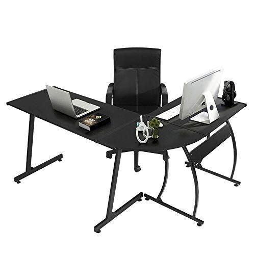 Greenforest l-shape corner computer escritorio de oficina pc