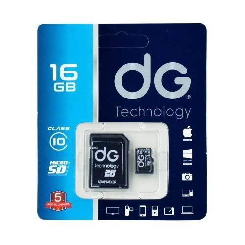 Memoria micro sd 16gb clase 10 + adaptador sd dg original