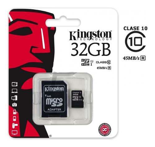 Memoria micro sd kingston 2 en 1 32gb clase 10