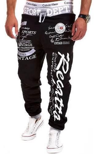 Pantalon Sudadera Fashion Letters Dance Sportwear Baggy Casu