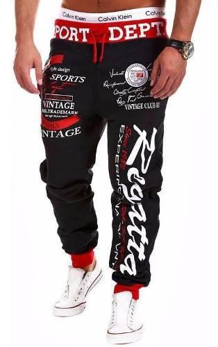 Pantalon Sudadera Fashion Letters Dance Sportwear Casual //