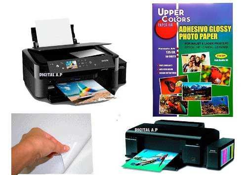 Papel fotográfico adhesivo 135 gr. x 5 paquetes x250 hojas
