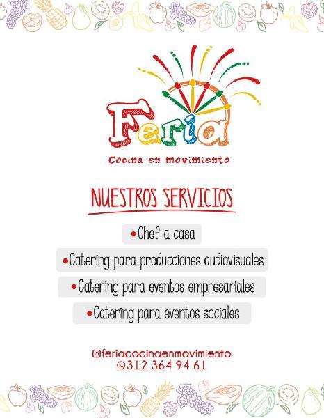 Servicio de catering o alimentación para eventos