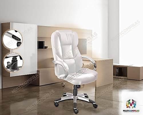 Silla gerencial moderna blanca oficina empresarial oferta