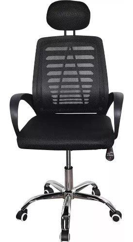 Silla reclinable giratoria oficina pc malla escritorio negra