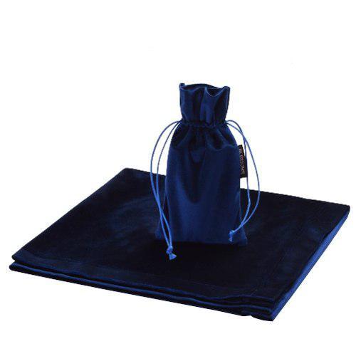 Tarot Adivinación Mantel Y Funda Azul