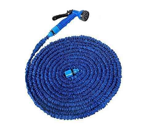 100 feet expanding magic hose with gun water garden pipe blu