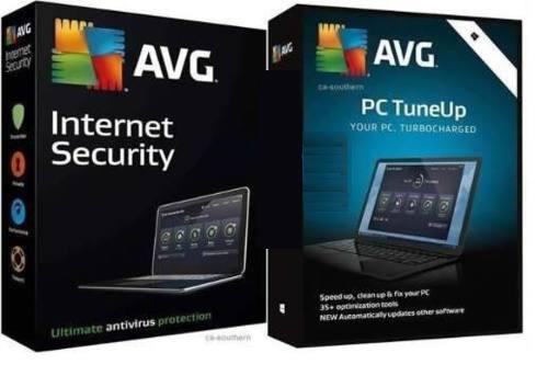 Antivirus avg internet security + avg tuneup 5 pcs 3 años