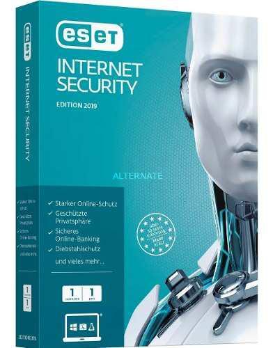 Antivirus eset internet security 3 pcs 2 años windows/ mac