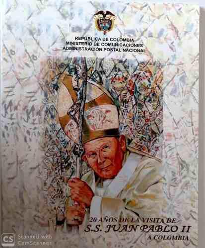 Carpeta juan pablo ii-20 años-2006 - filatelia -