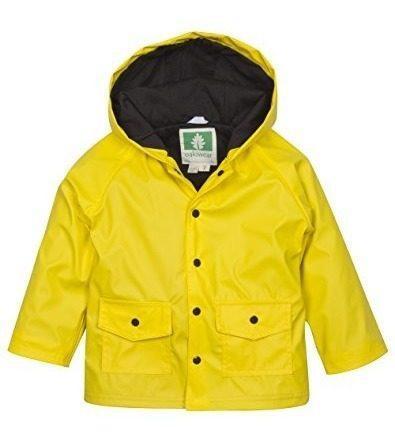 Chaqueta impermeable oaki para niños, amarillo /negro 8