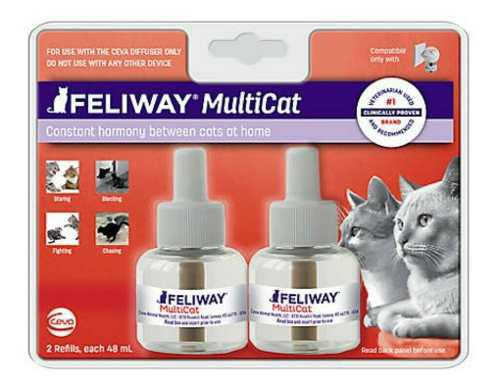 Feliway 2 multicat/friends repuestos difusor - disponible ya