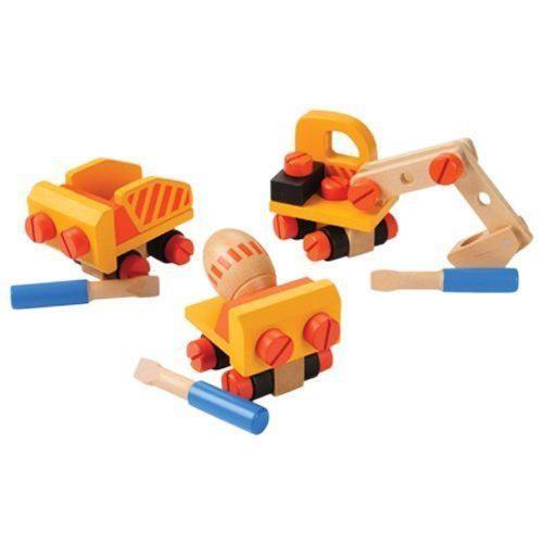 Juguetes cp construcción de madera camiones de