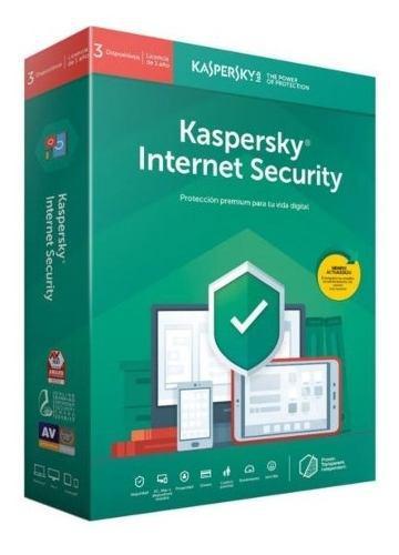 Licencia internet security kaspersky 3 usuarios 2019