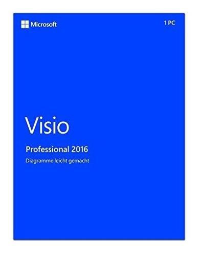 Microsoft visio professional 2016, 1u. tipo de software: