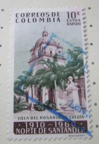 Villa Del Rosario De Cucuta Colombia Antigua Estampilla