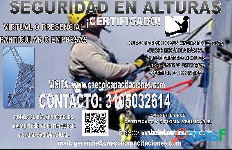 CURSO SEGURIDAD EN ALTURAS CERTIFICADO