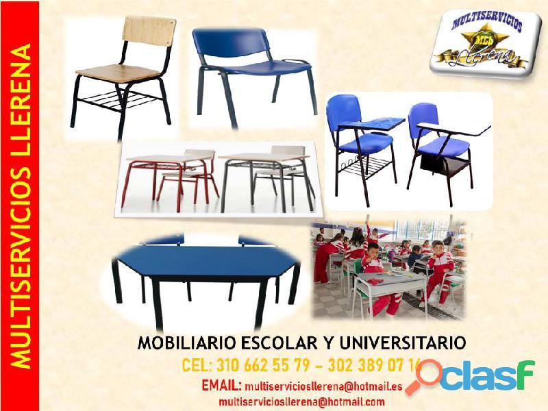 Mobiliario escolar y universitario.