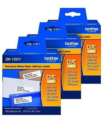 Brother dk1201 etiquetas direccion (29mm x 90.3mm) 400 x3