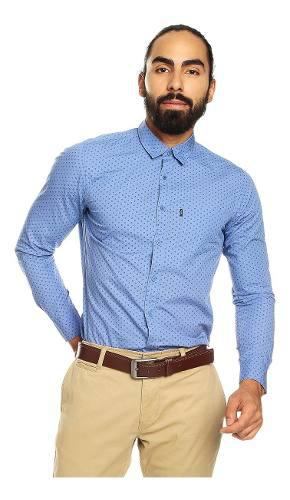 Camisa para hombre manga larga mini print porter estampado