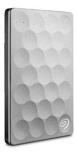 Disco duro externo 2tb seagate backup plus ultra slim, plata