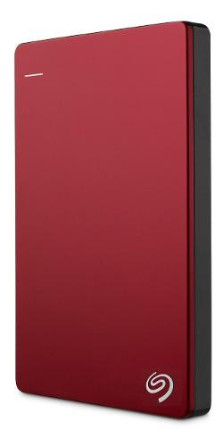 Disco duro externo seagate 2tb usb 3.0 slim plus - rojo-