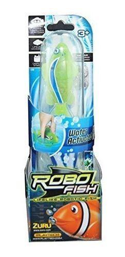 Pez Payaso Verde Activado Con Agua De Robo