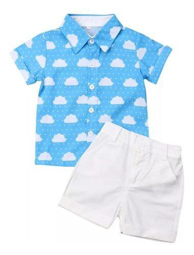 Ropa para niño, camisa y bermuda para verano moda infantil