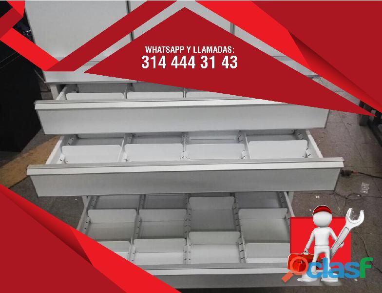 Estanterias metalicas para farmacias, copidrogas colombia 3