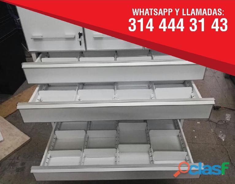Estanterias metalicas para farmacias, copidrogas colombia 7