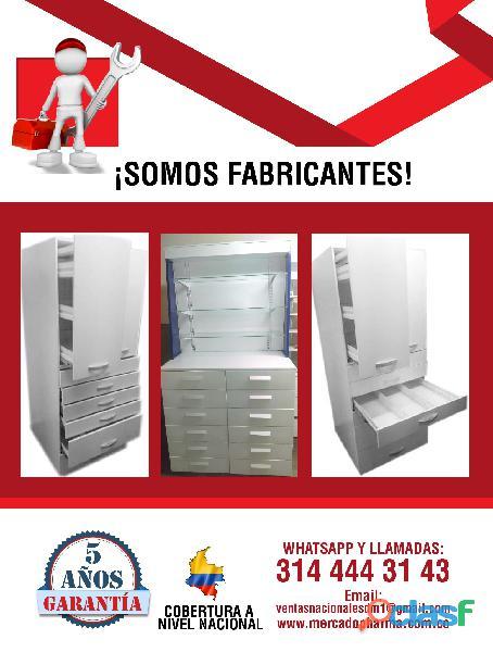 Estanterias metalicas para farmacias, copidrogas colombia 10