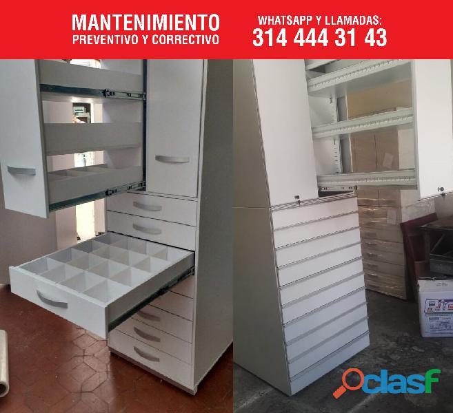 Estanterias metalicas para farmacias, copidrogas colombia 12