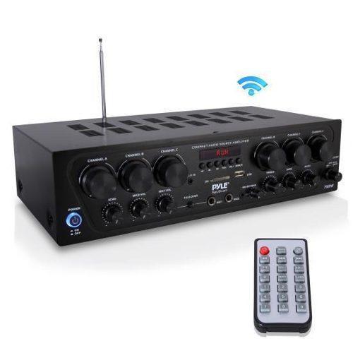 Amplificador de audio para el hogar pyle pta62bt bluetooth,