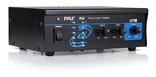 Casa audio sistema amplificador potencia - caja 2x75w mini
