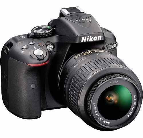 Cámara nikon d5300 con wifi + lente 18-55mm 24,2mpx