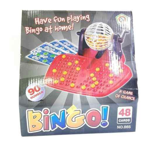 Juego bingo con balotera mini 90 números
