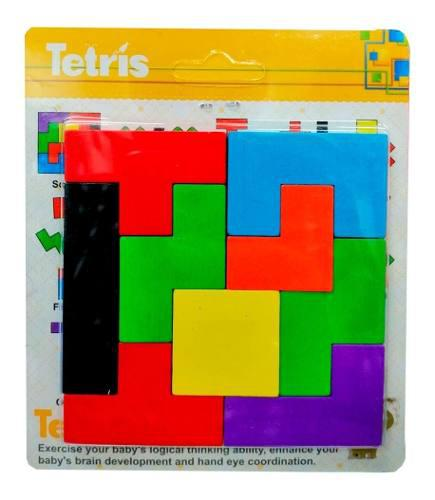 Juego Tangram Didáctico De Madera Tetris Bloques