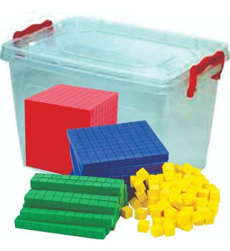 Kit matemático base 10, set multibase, juego método