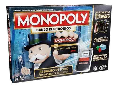 Monopoly banco electrónico en español original hasbro