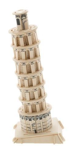 Rompecabezas de madera grande 3d modelo torre pisa