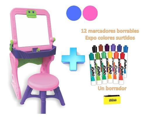 Tablero escritorio comedor niños niñas infantil + silla