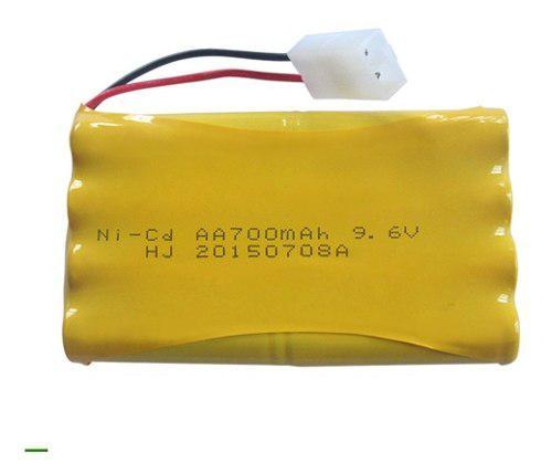 Bateria ni-cd 700 mah 9.6 voltios conector mini tamiya carro