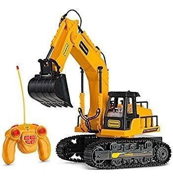 Carro control remoto rc niño excavadora, efectos de sonido