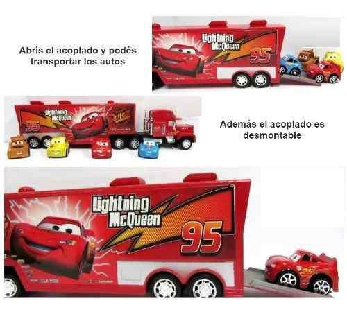 Cars camion mula mack radio control + 4 carros mcqueen ajd
