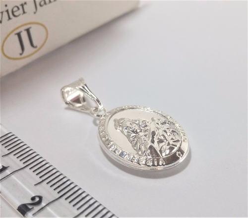 Medalla virgen del carmen / sagrado corazon plata ley 925