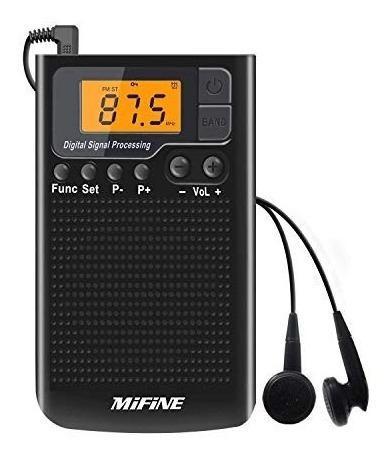 Radio am fm portátil de bolsillo - radio pequeña con reloj
