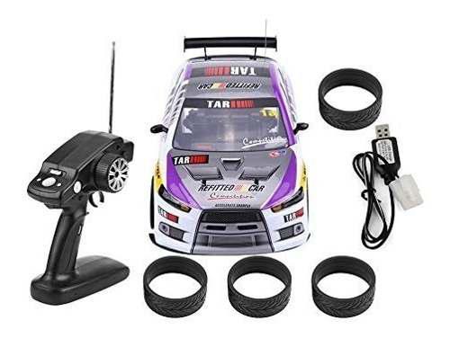 Rc drift - juguete para coche 1/10 4 ruedas mando a distanci